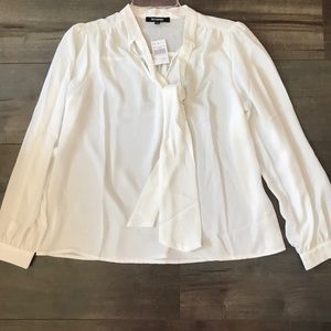 Ups&Downs White long sleeve blouse